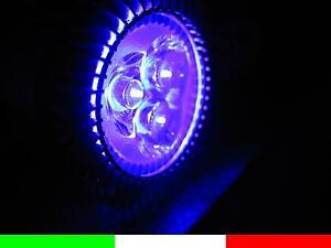 UV GU10 3x1w LED 3w LAMPADINA FARETTO DICROICA ultravioletto 220v WOOD E5D5