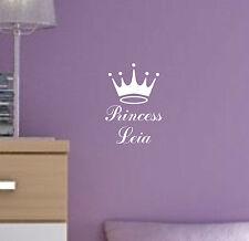 Personalizar Princesa tu nombre Autoadhesiva De Vinilo El Arte De Pared Infantiles Cuarto De Niños P2
