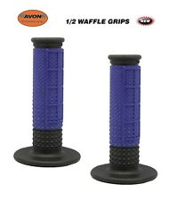 AVON X.9 HALF WAFFLE GRIPS BLUE/BLACK MXW03