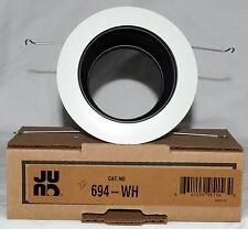 "JUNO 4"" Black Baffle, White Trim Recessed Lighting Downlights (694-WH)"