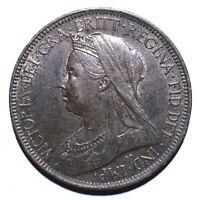 1899 United Kingdom (UK) Half 1/2 Penny - Victoria 3rd portrait - Lot 542