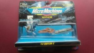1995 Micro Machines Babylon 5 #6 Space Collection Sealed Card #65620 Ships