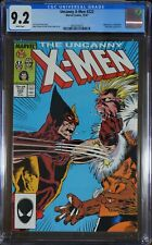X-Men #222 CGC 9.2 - Wolverine vs. Sabretooth.  Marauders appearance