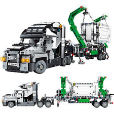 1202pcs Container Truck Vehicles Model Building Blocks Trailer Car Toys Bricks