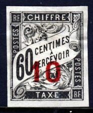 FRENCH COLONIAL POSTAGE DUE 1884 60c. IMPERF Overprinted 10 in RED SG D69 MINT