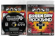 GREEN DAY ROCKBAND PLUS PlayStation 3 PS3 disc, case  and manual