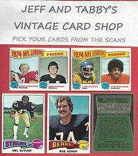 1975 TOPPS FOOTBALL SEE SCANS # 1 TO # 172