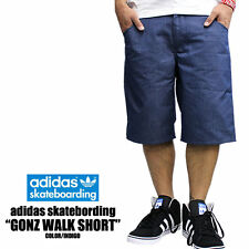 Adidas Gonz Walkshort Blue Shorts D86443 Sz 30
