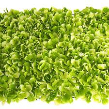 Artificial Silk Hydrangea Flower Mat, Green, 24-Inch