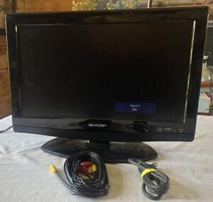 """SHARP BLACK 720P LCD 19"""" SCREEN TV MODEL LC19SB27UT PRE OWNED BLACK"""