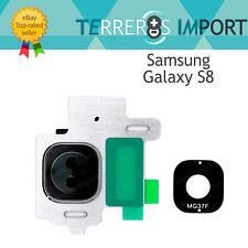 Lente Plata Silver Embellecedor Camara Trasera para Samsung Galaxy S8 G950F