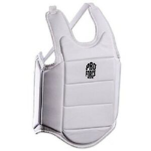 Ultra Lite Chest Guard Body Protector for Karate Tae Kwon Do Youth Adult - White