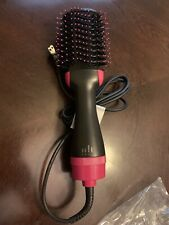 NIB One Step Hair Dryer and Styler Blower Brush Pink/black #5250 with bag