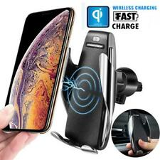 Universal Wireless Car Charger Automatic Clamping  Fast Charging Mount