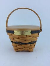 Longaberger 2000 National Sales Leader Award Basket w Lid