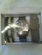 Call it spring men's watch with 2 additional straps