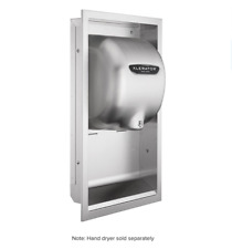 Wall Enclosure - Excel Dryer Inc Hand Dryer - Brushed Stainless Steel # 40502