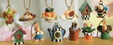 Dollhouse Miniature Set of 12 Springtime Fairy Garden Ornaments
