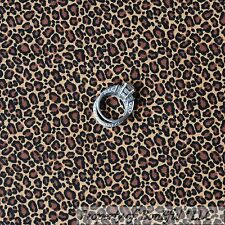 BonEful Fabric FQ Cotton Quilt Brown Calico Skin Leopard Animal Wild Sexy Lady S