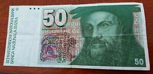 50 Swiss Francs banknote. # 3.
