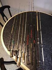 9 Vintage Fishing Rods Zebco JC Higgins Shakespeare Berkley Great Lakes Marade