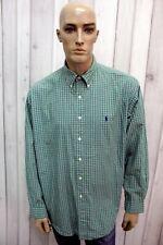 RALPH LAUREN Taglia XL Camicia Uomo Cotone Shirt Chemise Casual Manica Lunga