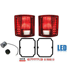 73-91 Chevy GMC Truck LED Sequential Tail Light Lens & Gaskets Pair w/ Flasher