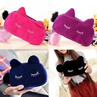 Cute Cartoon Cat Pencil Pen Case Bag Cosmetic Makeup Storage Bag Purse Fashion
