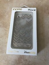 Incipio Design Series For iphone 5 / 5s  Clear With Rose Gold Chevron Glitter