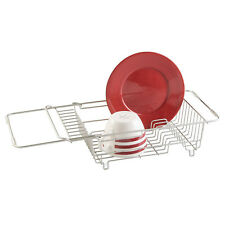 Over the Sink Dish Drying Rack Stainless Steel Expandable Kitchen Dish Drai