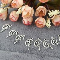 30Pcs Women Fairy Moon Star For Jewelry Making DIY Pendants Charms Accessories