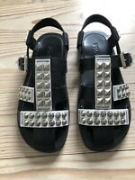 "BRAND NEW Prada Mens ""Calzature"" Studded Leather Sandals UK9.5/10, with box"