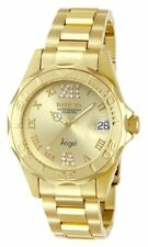 Invicta Angel Champagne Dial 18kt Gold Ion-plated Ladies Watch 14397