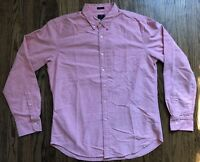 NWT J Crew Oxford Mens Slim Button Front Long Sleeve Shirt Size Large
