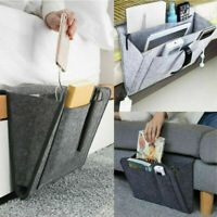 Hanging Bag Bedside Storage Organizer Bed Felt Pocket 27*22cm Holder Phone Hot