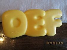 Fisher Price PLAY PRETEND Fun with  FOOD Yellow DEF Alphabet Soup REPLACEMENT