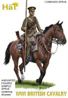 HAT 8272 WWI BRITISH CAVALRY 1/72 Model Figures Kit - 1 SPRUE 4 Mounted Figures