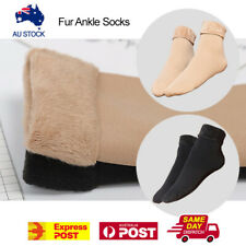 Warm Soft Fur Thick Bed Ankle Reversible Socks Work Home Winter Ladies Women