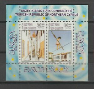 S38140 Turkish Cyprus Europa Cept MNH 2002 S/S