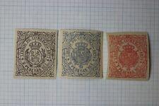 Spanish Antilles west indies 1877-1879 Libros de Comercio revenue Cb#52 68 70 Dl