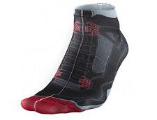 Nike Air Jordan 4 Sneaker Socks Black Red Grey Sz Medium 483258-010