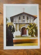 Old Vintage 1944 Picture Print San Francisco California Mission De Asis Dolores