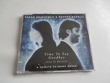 "Maxi CD SARAH BRIGHTMANN & ANDREA BOCELLI ""Time To Say Goodbye (Con Te Partirò)"""