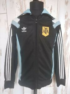 Rare AFA Argentina Adidas Originals TT 3S Football Jacket 2014 Zip Soccer Sz M