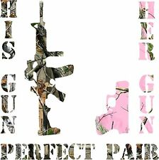 His and Hers  Perfect Pair Gun Camo Sticker