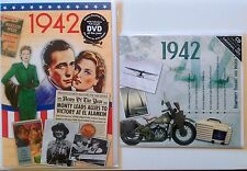 1942 75th Birthday Gifts Set - 1942 DVD , CD and Card - CD Card Company