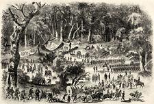Union Army In the Mud, Williamsburg to Richmond VA, Wagons Artillery 1862 Print