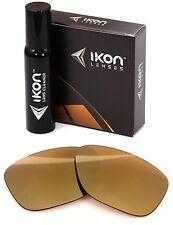 Polarized IKON Iridium Replacement Lenses For Oakley Garage Rock 24K Gold Mirror