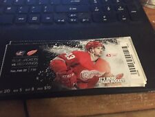 2016 DETROIT RED WINGS VS COLUMBUS BLUE JACKETS TICKET STUB 2/23 DARREN HELM