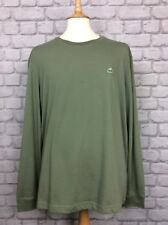 LACOSTE MENS UK XL FR 6 GREEN LONG SLEEVED CROC POLO SHIRT TOP DESIGNER CASUAL